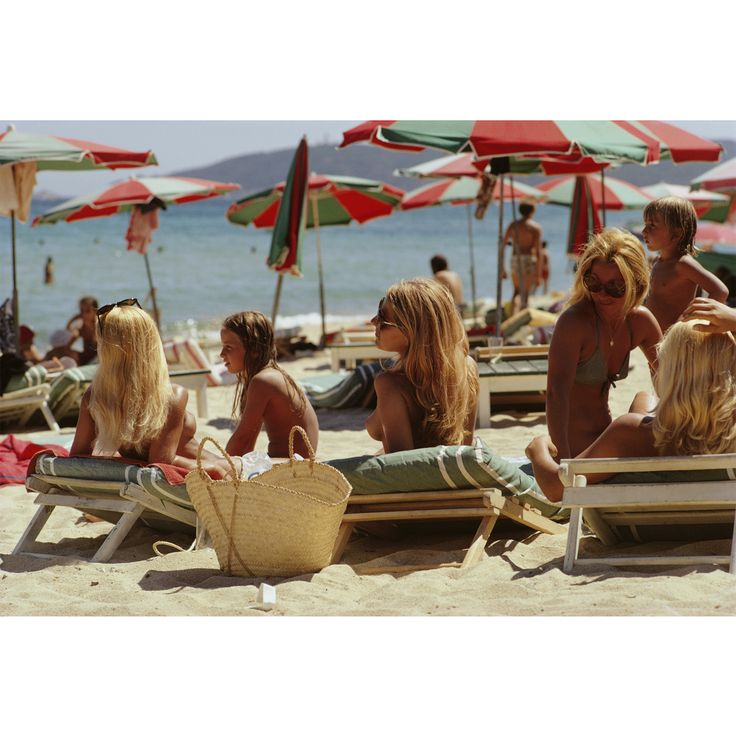 #Modern #WallArt | Slim Aarons Photography - Saint Tropez Beach Print | $895.00