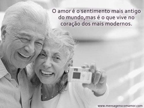 O amor é o sentimento mais antigo do mundo, mas é o que vive no coração dos mais modernos.
