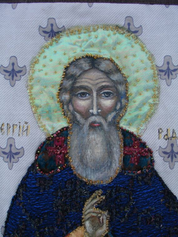 Orthodox Icon St. Sergius Radonezh by KingSizeQuiltsQueen on Etsy