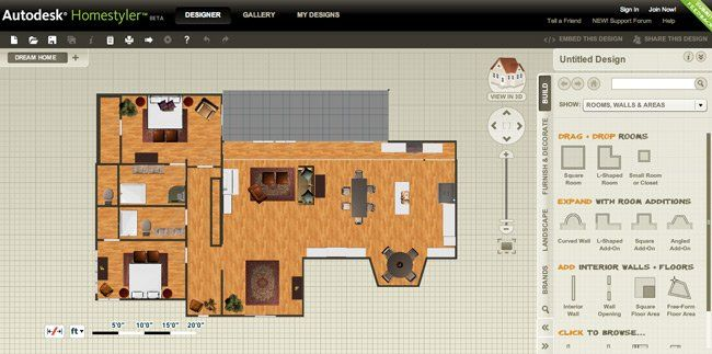 10 Best Free Online Virtual Room Programs and Tools.  Try out HomeStyler and Small Blue Printer (9)