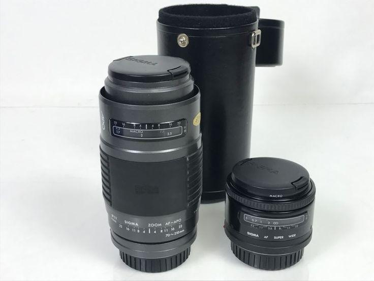 Pair Of SIGMA Camera Lenses SIGMA ZOOM AF-APO 70-210mm And SIGMA AF Super Wide Macro Lens