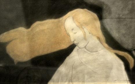 Helene Schjerfbeck - Elämänpuun tyttö / Tree of life girl, 1907