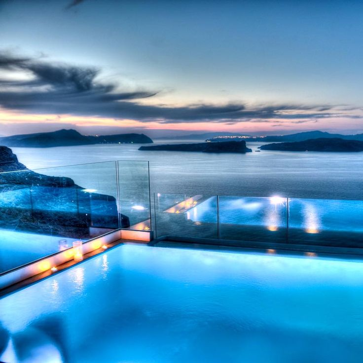 View by sunset at Astarte Suites, ain't it just terrific?