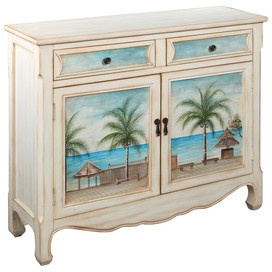 ideas for restoring old furniture: Paintings Furniture, Decor, Doors, Cabinets, Idea, Hands Paintings, Beaches Houses, Products, Seascape Cupboards