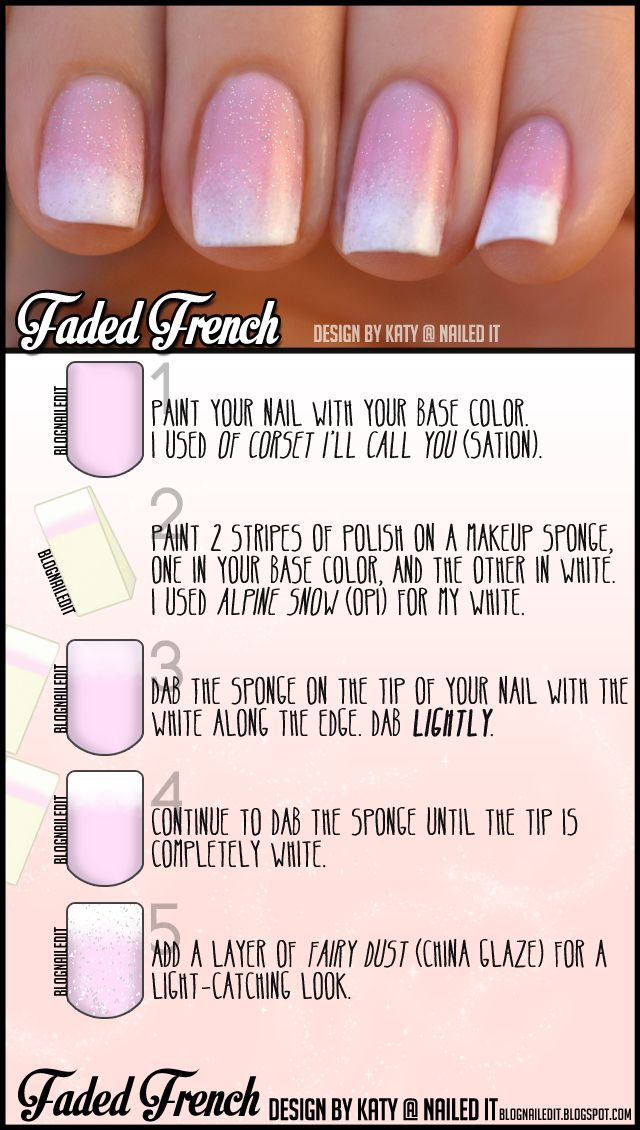 Fake the French mani with this easy sponged technique, designed for your special day, and d to you in cooperation with Weddingstar Inc.
