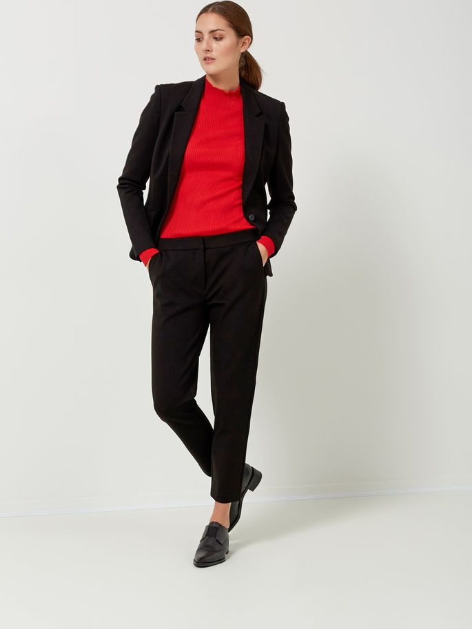VISCOSE - BLAZER, Black, large