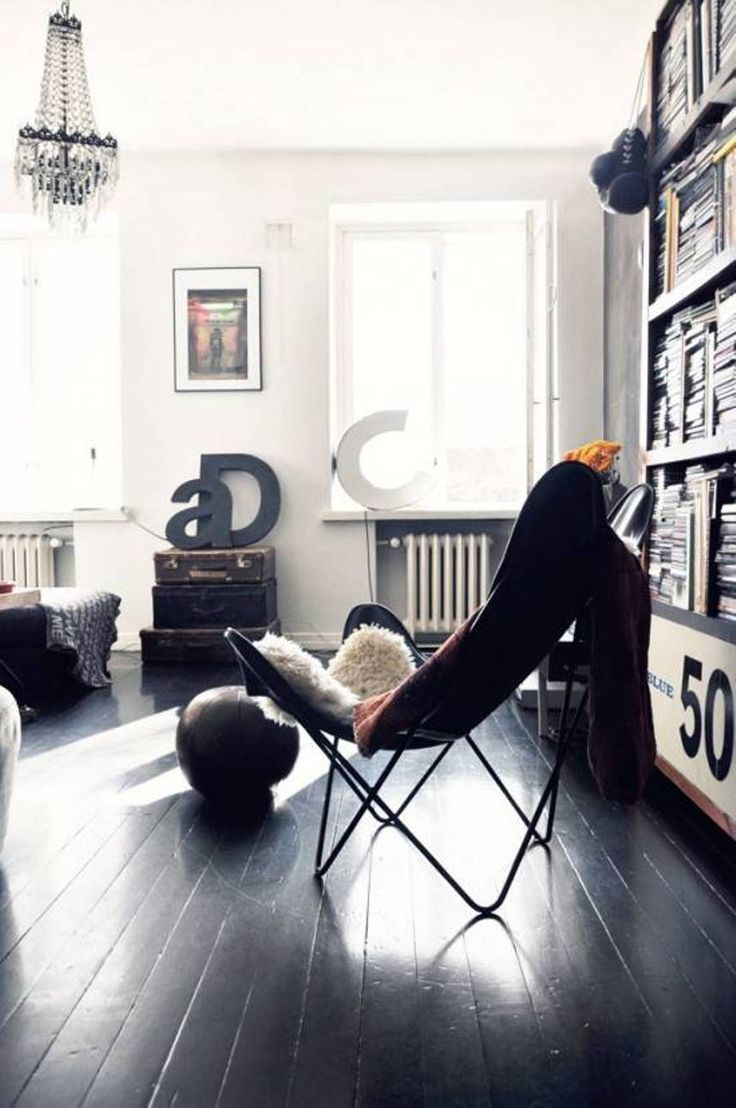 Good Furniture , Retro Butterfly Chair : Black Butterfly Chair With Fur  #butterflychair #interiorsinspo