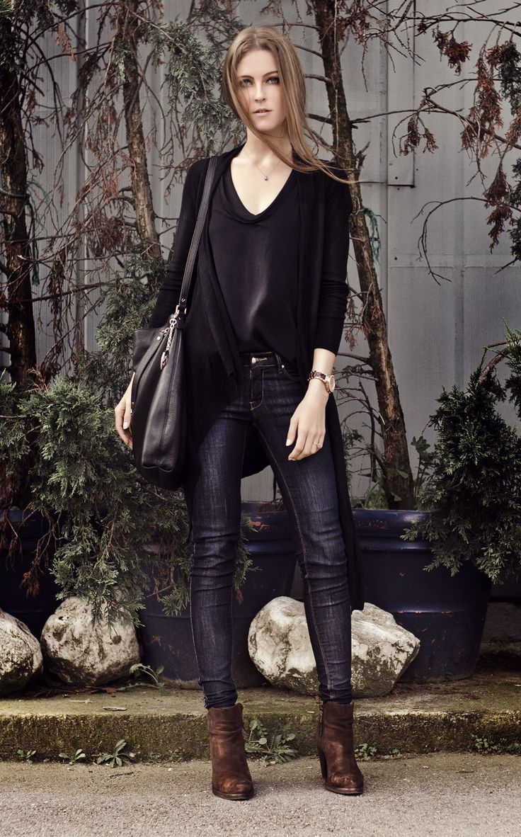 skinny jeans with rock chic outfit