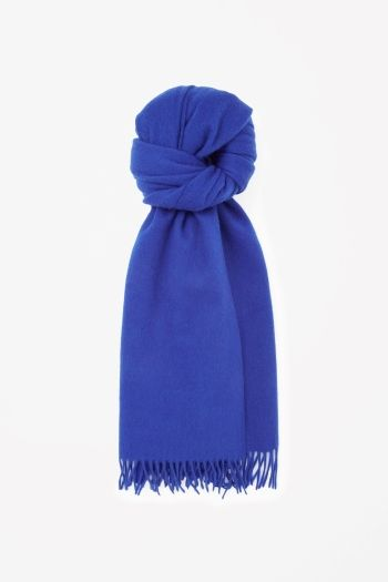 COS Wool-cashmere scarf in Navy