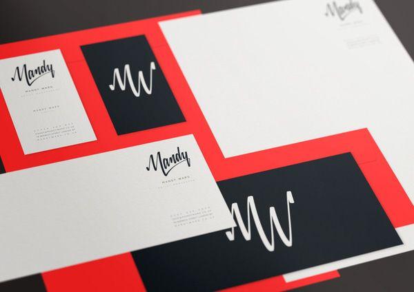 Mandy Ward Artist Management: Design Inspiration, Branding Design, Business Cards, Logos Ideas, Logos Design, Identidi Design, Graphics Design, Identity Design, Design Logos
