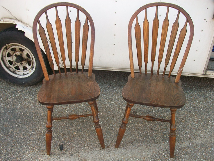 This Is A Pair Of Windsor Style Signed Dinaire Buffalo