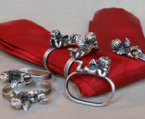 NAPKIN RINGS ANGELS - Christmas
