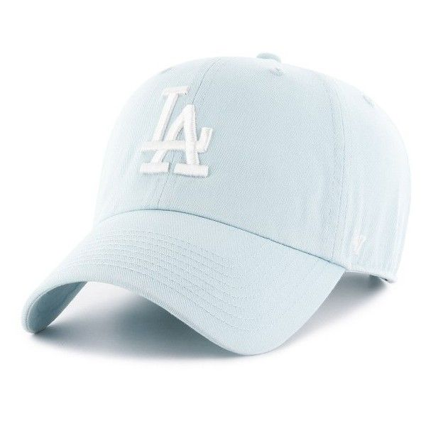 Women's '47 La Dodgers Baseball Cap ($25) ❤ liked on Polyvore featuring accessories, hats, blue, embroidered baseball caps, dodgers hat, 47 brand hats, cotton baseball cap and ball cap
