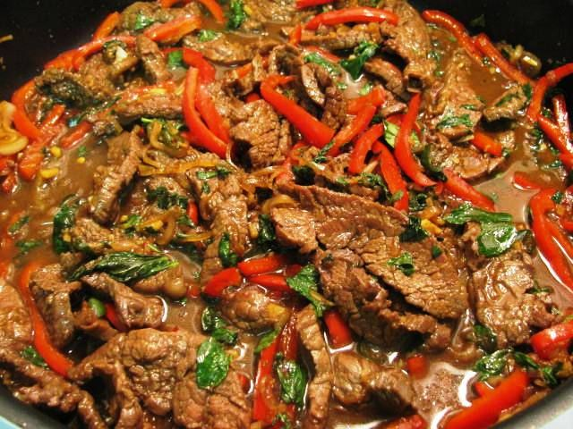 Spicy Thai Mint Beef — The Taste Place | Asian Flair | Pinterest
