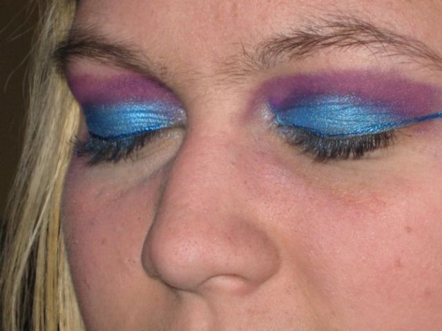 Image result for blue eyeshadow bad