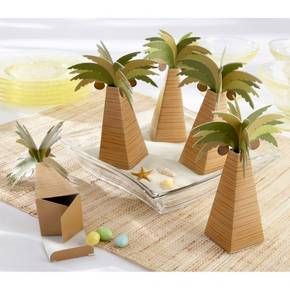 Kate Aspen Palm Tree Favor Box (Set of 24) : Target