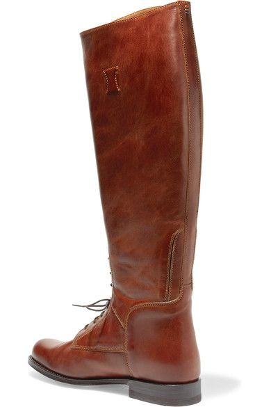 Ariat - Palencia Lace-up Leather Riding Boots - Tan - US6.5