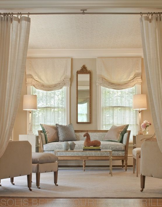 576 best Windows images on Pinterest Curtains, Window coverings - balloon curtains for living room