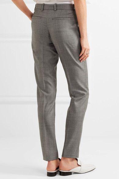 Joseph - Kong Super 100 Wool-twill Straight-leg Pants - Gray - FR34