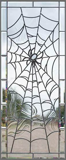 Web window! I want to learn how to do stained glass just because of this....and Imagine one with bats and a moon! Must learn soon!
