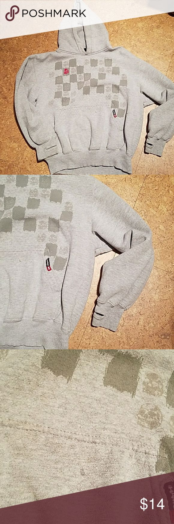 Tony Hawk hoodie Boys XL Gray Tony Hawk hoodie.  Thumb holes.   Small stain on front pocket (pic 3) Tony Hawk Shirts & Tops Sweatshirts & Hoodies