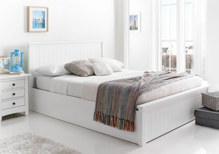 New England Soft White Wooden Ottoman Storage Bed - Painted Wood - Wooden Beds - Beds  New England Soft White Wooden Ottoman Storage Bed By Sleep Sanctuary 90 100  2 Reviews   * Required Fields NOW: £329.00 SAVE £210.00 Typical high street: £539.00