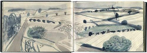 David Hockney, Yorkshire Landscape (born 1937)