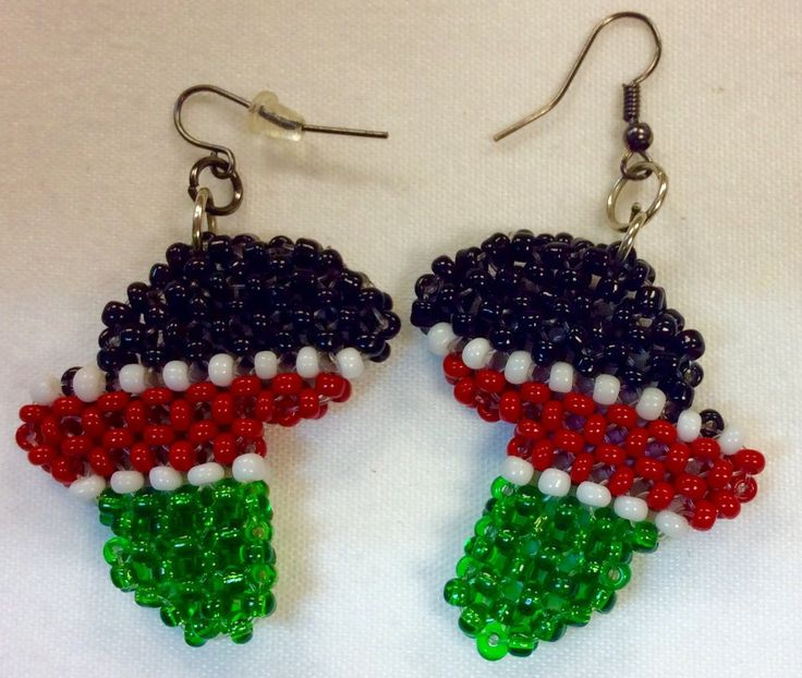 Kenya Flag Color-Africa Map Cutout Design Earrings