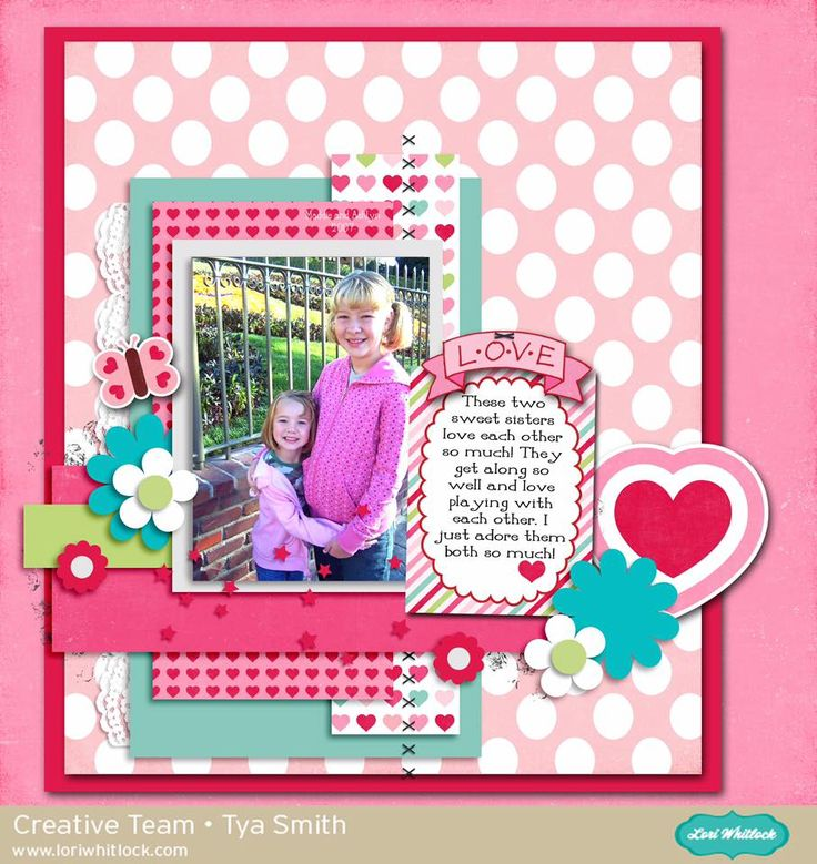Digital layout by Tya Smith featuring Lori Whitlock's Valentine Fun collection available at www.snapclicksupply.com #digitalscrapbooking