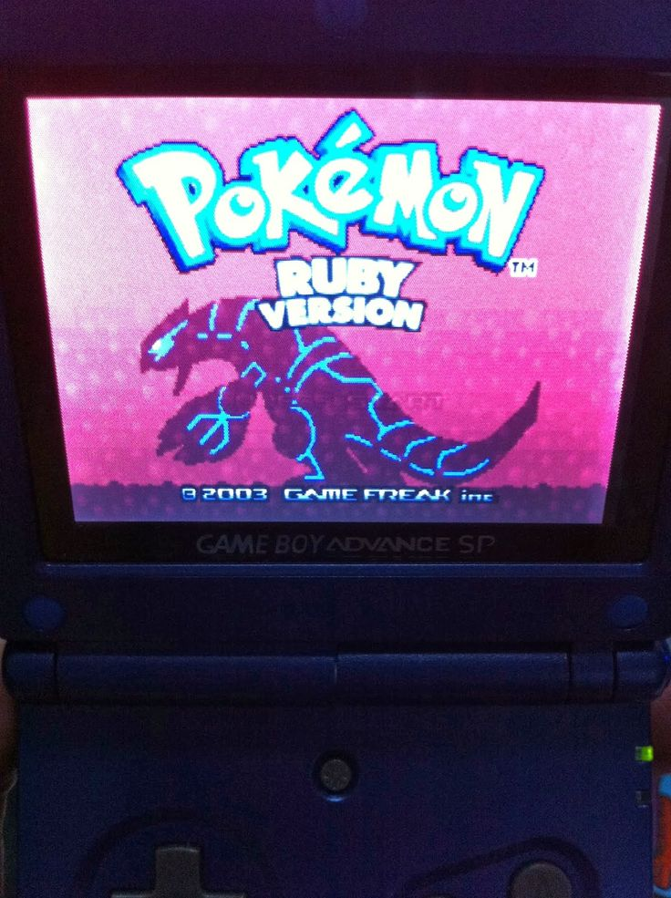 pokemon gba sp game sapphire ruby emerald fire red and