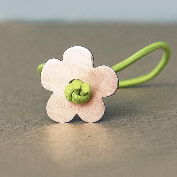 k-boo : little flower gold-plated bracelet