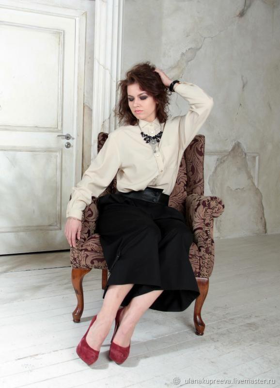 Рубашка женская классическая бежевая – купить в интернет-магазине на Ярмарке Мастеров с доставкой