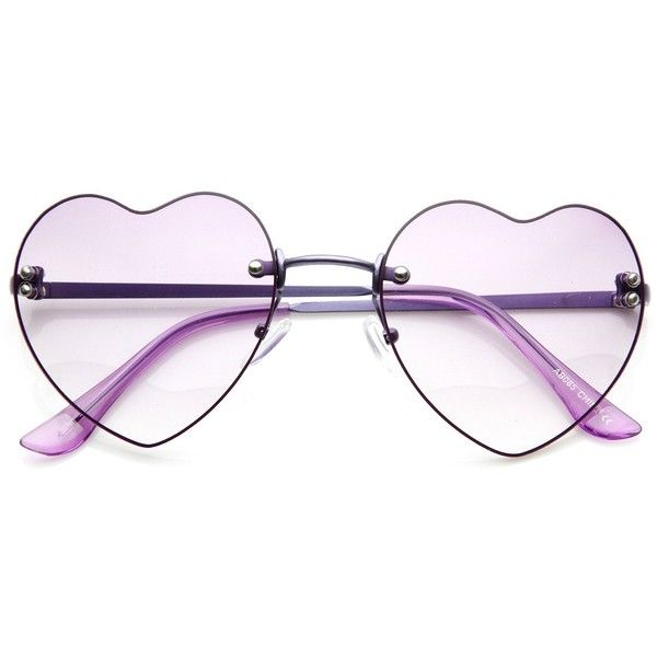 Cute Summer Colorful Heart Shape Womens Sunglasses 8797 (£5.83) ❤ liked on Polyvore featuring accessories, eyewear, sunglasses, colorful glasses, heart shaped sunglasses, rimless sunglasses, heart glasses and heart shaped glasses