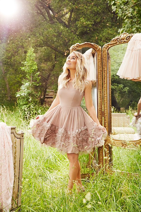 Lauren Conrad in an #LCRunway Collection Ruffle Organza Dress