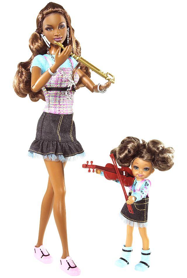 "2009 Kara™ & Kiana® Dolls — ""Music"" | Barbie Collector, Release Date: 8/6/2009 Product Code: P6916, $19,99 Orginal Price"