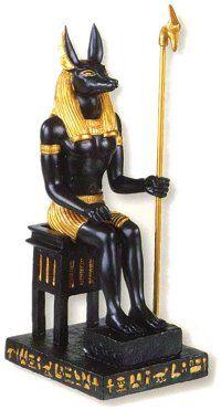 Representing Egyptian God Anubis