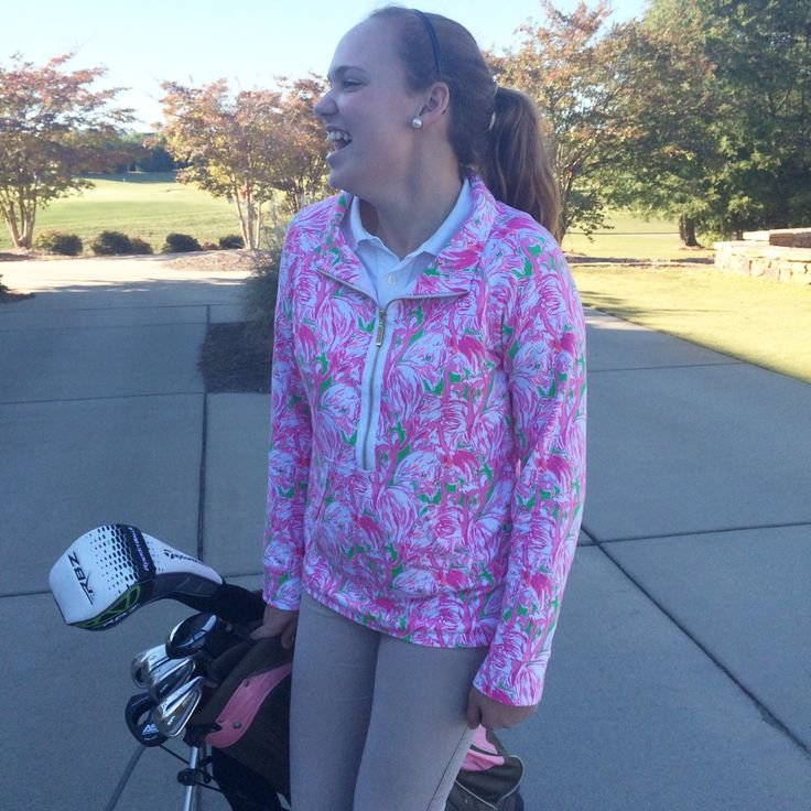 A Lilly Pulitzer golf jacket