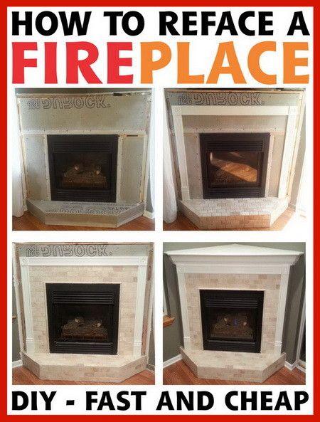 61 best DIY Home: Fireplaces/Mantels images on Pinterest ...