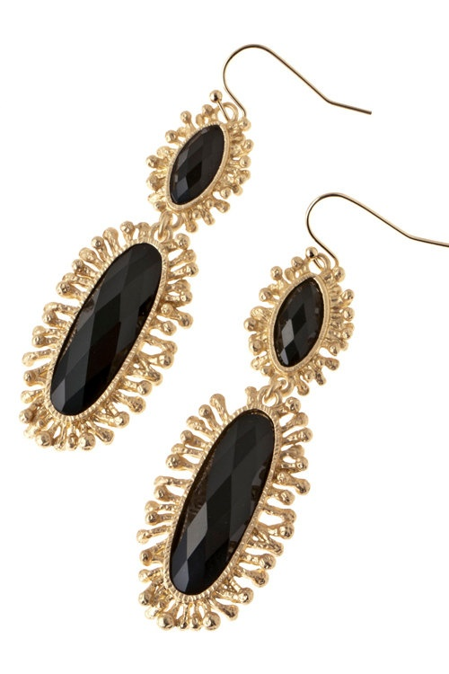 Marguerite Earrings-Black from A+C