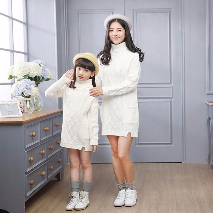 2016 Mother and Daughter Clothes Soild Sweaters Family Matching Outfits Sweaters for Mom and Kids Fashion Cardigan Sweaters 5-12