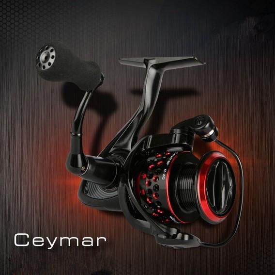 OKUMA Ceymar 5000S Sea Reel 8BB Ratio 4.5:1 Max Drag Power 8Kg Saltwarter Spinning Fishing Reel Metal Spool Carp Fishing Coil