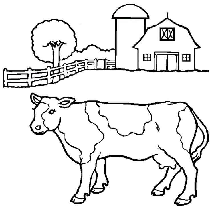 Great Cow Funny Farm Coloring Pages For Kids Printable
