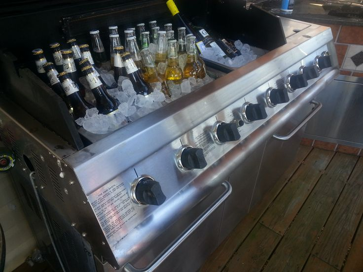 Turning An Old Grill Into A Beer Cooler Repurposing A