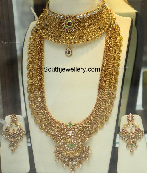 Antique Gold Choker and Lakshmi Kasu Haram photo
