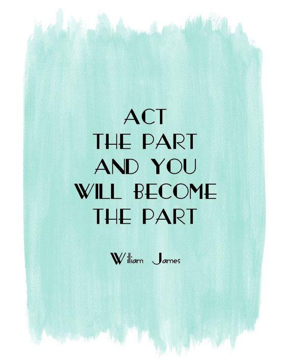 William James quote art #print #blue #watercolor