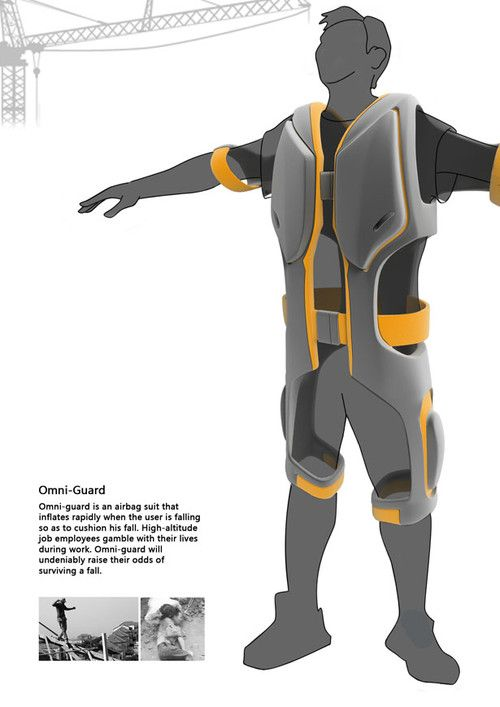 Omni Guard Airbag Suit Survive Falling Accidents