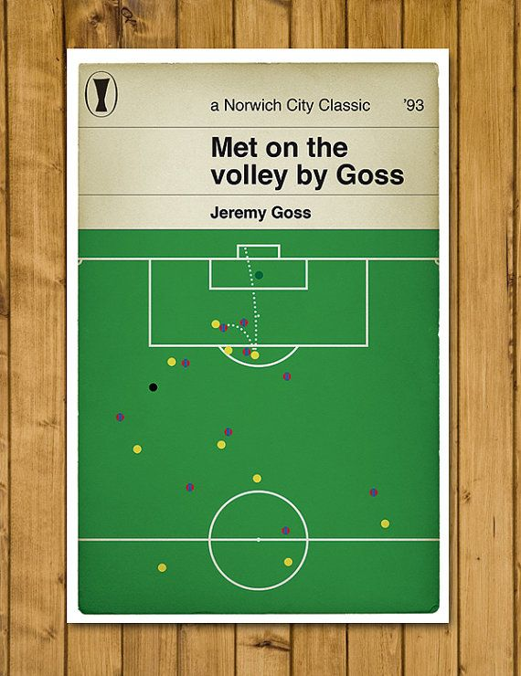 Norwich City's greatest night! https://www.etsy.com/uk/listing/242432357/norwich-city-fc-jeremy-goss-1993-uefa