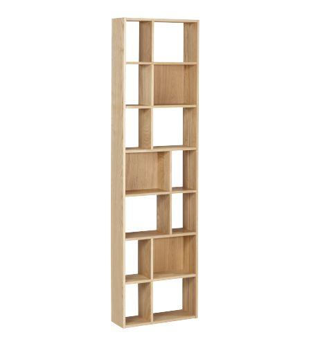 CLEO petite bibliothèque - Habitat - 195€ - Cette petite bibliothèque de fabrication européenne, livrée entièrement montée, sera parfaite pour stocker vos livres de poches ou vos DVD. Très peu profonde et d'un faible encombrement, elle pourra se placer à la verticale comme à l'horizontale.