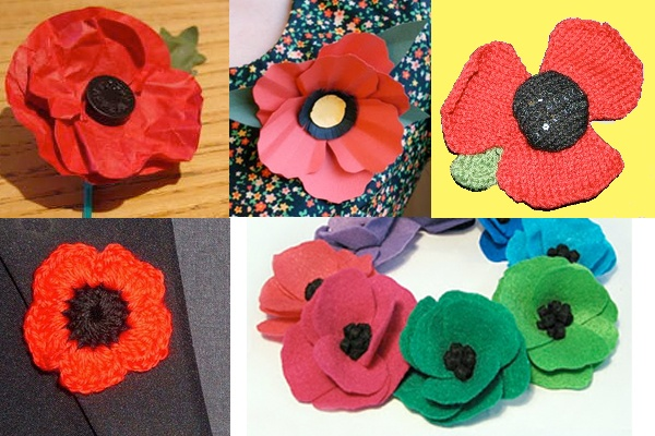 5 remembrance day poppies to make