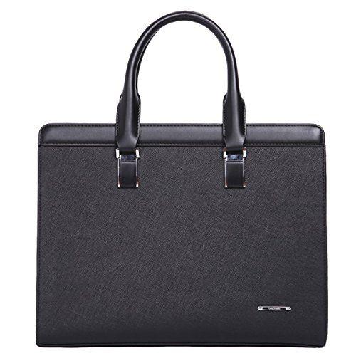 8c96a5f9fbda5 Leathario Damen Herren Ledertasche Leder Umhängetasche Aktentasche  Laptoptasche Arbeitstasche Businesstasche Messenger Bag